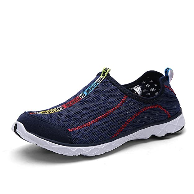 Amazon.com | Mxson Mens Slip On Sneaker Mesh Casual Sports Walking Beach Aqua Swimming Pool Water Shoes, Dark Blue, 10.5 D (M) US | Shoes