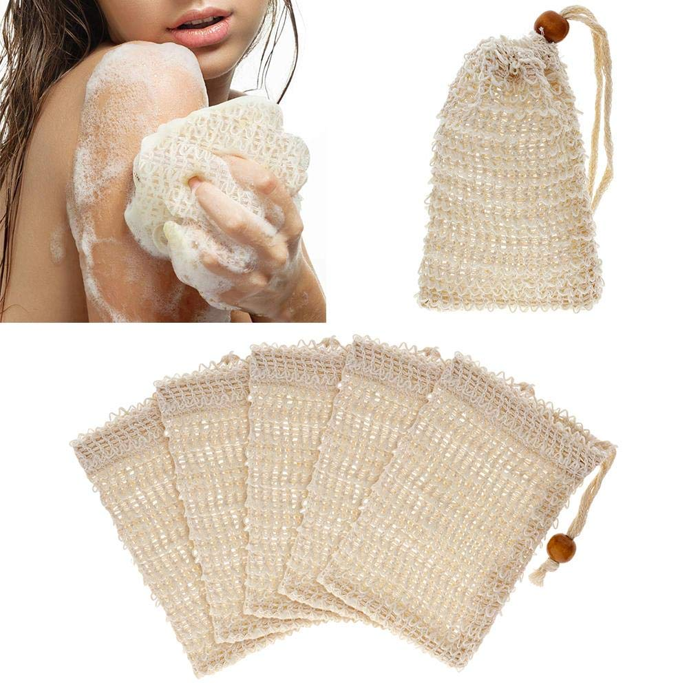 FANMURAN 10Pcs Soap Saver Pouch Bubble Foam Net Handmade Natural Soap Mesh Bag Holder Exfoliating Body Facial Cleaning Bath Shower Scrubber Tool Skin Care Women and Men