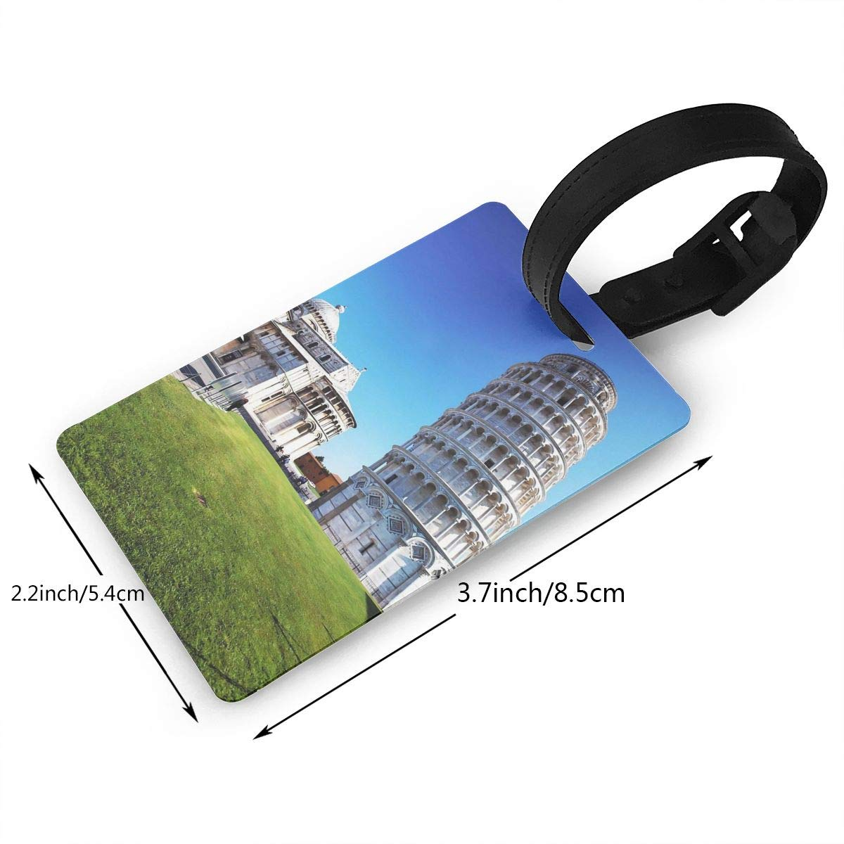 2 Pack Luggage Tags Leaning Tower Of Pisa Handbag Tag For Travel Tags Accessories