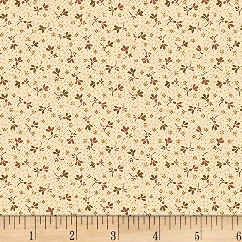Henry Glass & Co. Buttermilk Blossoms Calico Toss Taupe Fabric Fabric by the Yard