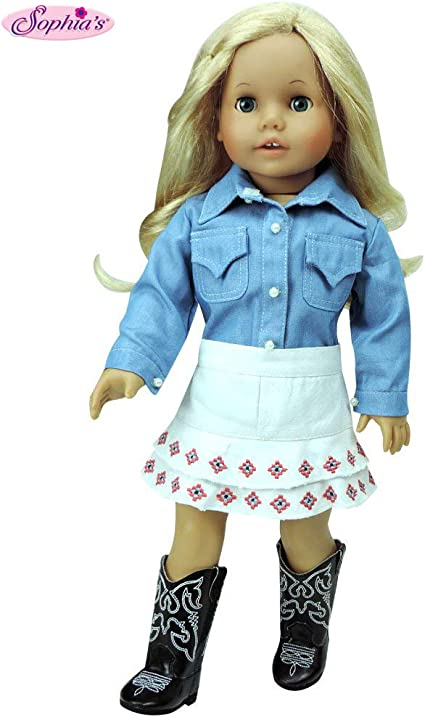 Doll Clothes Cowboy Boots fit 18 Inch American Girl and Boy Dolls