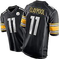 # 11 Steelers Claypool Rugby Jersey, Camiseta de fútbol Americano para los Hombres Entrenamiento de la Aptitud Casual…