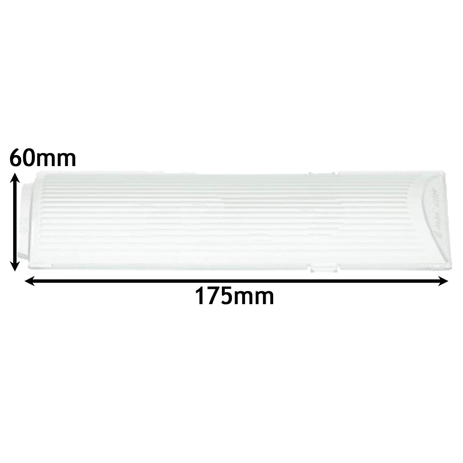 SPARES2GO Lamp Diffuser Cover for Neff Cooker Hood//Extractor Vent Fan 175 x 60mm