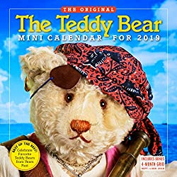 The Teddy Bear Mini Wall Calendar 2019