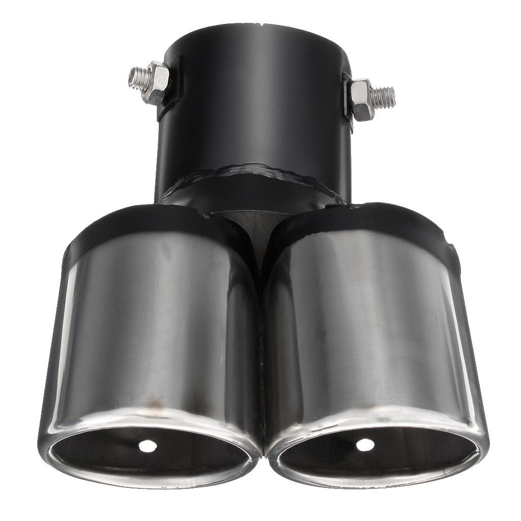 Dual Exhaust Muffler Pipe Trim Baoblaze 1 Pieza Extractor de Doble Salidas Tubo de Escape Cola