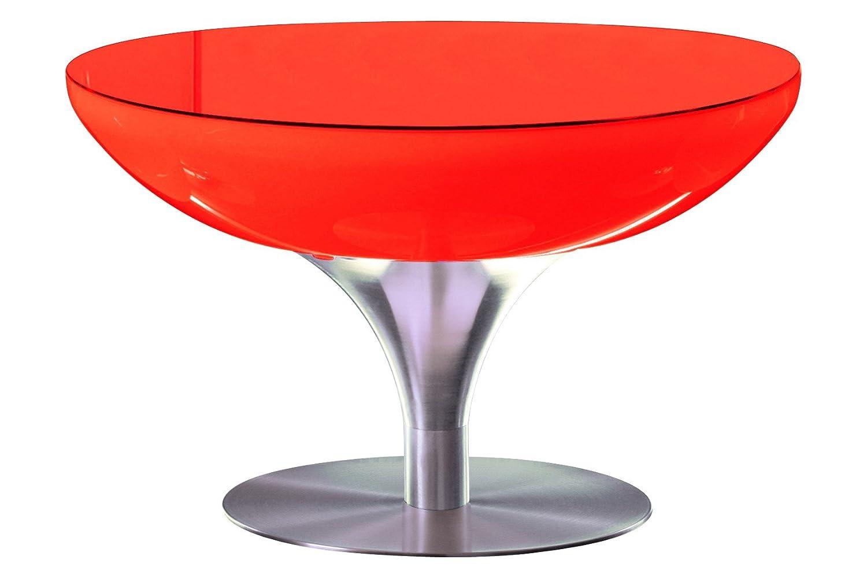 Couchtisch Lounge 55 LED Pro Leuchttisch Wohnzimmertisch by Moree, Glasaufsatz:mit Glasaufsatz;Farbsteuerung:USB-Steuerung