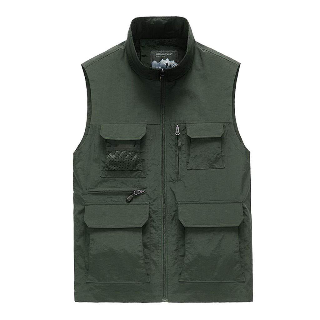 F_Gotal Mens blazer Men's Lightweight Water-Resistant Packable Puffer Vest Green by F_Gotal Mens blazer