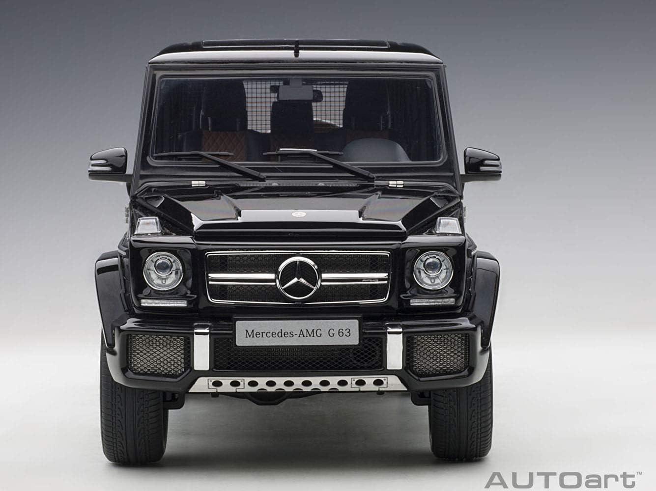 Mercedes AMG G 63 Gloss Black 1//18 Model Car by Autoart 76322