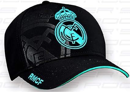 Casquette de Real Madrid Couleur Noir Taille Adulte. Produit Officiel Licence