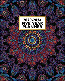 2020-2024 Five Year Planner: Colorful Mandala | 60 Month