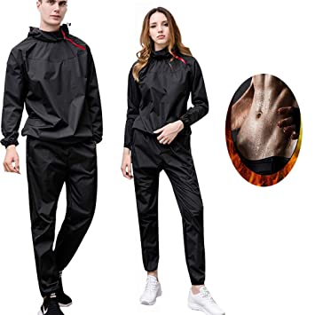 MINIRAH! Sauna Traje Sweat Chandal Hombre Anti-Rip Fat ...