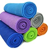 Muser Cooling Towels Pack of 6 Neck Wraps for Athletes Workout Sports and Fitness Instant Cooling Relief