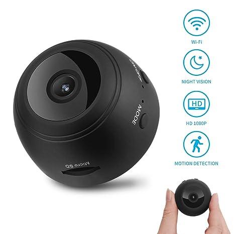 HankerMall Mini cámara espía Oculta 1080P HD Mini WiFi Nanny Cámara IP Dash Cámara de detección