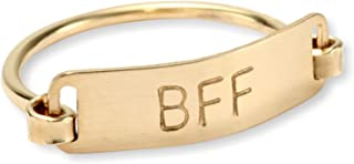 "product image for Nashelle Gold-Filled ""Identity"" 'BFF' Inspiration Ring"