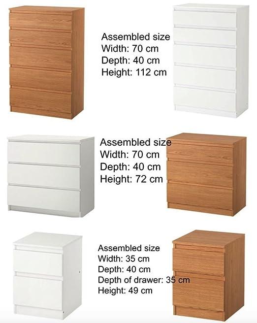 Cajonera Kullen de IKEA, con 2 cajones, para el dormitorio, de ...