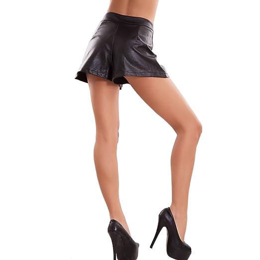 7b5a2627292cf2 Toocool - Pantaloncini Donna Ecopelle Hotpant Zip Vita Alta Shorts Sexy  Nuovi CR-2410 [L,Nero]: Amazon.it: Abbigliamento