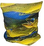 Fishmasks Single Layer Neck Gaiter (One Size fits Most, Dorado Fish)