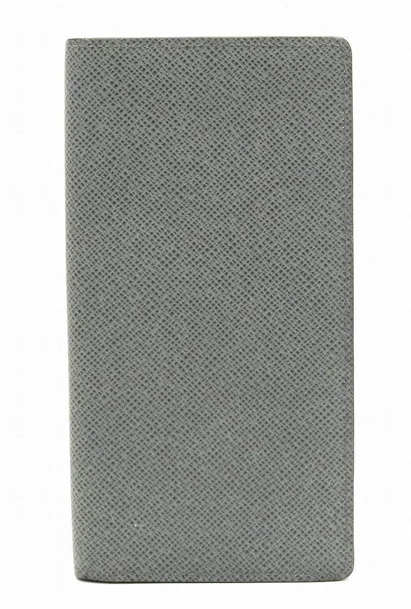 [ルイ ヴィトン] LOUIS VUITTON タイガ ポルトフォイユ ロン 2つ折長財布 カーフ レザー グラシエ グレー メンズ M33401 [中古]   B07RF4MBZ3