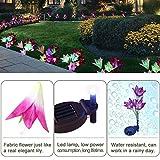 Solar Flower Lights LED Outdoor Garden Flower