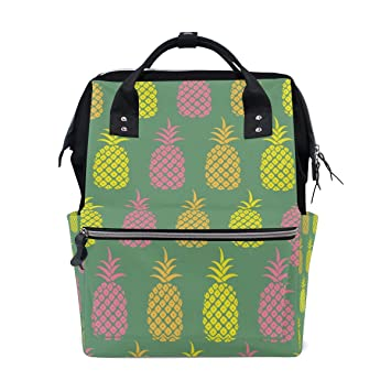 4e65640b47a4 Amazon.com: Backpack Pineapple Art Womens Laptop Backpacks Hiking ...