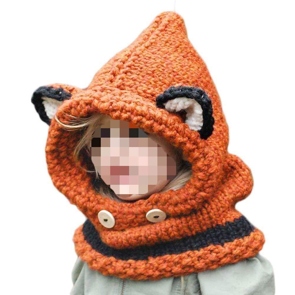 SevenPanda Bonnet Chaud Chapeau 3D Fox Cagoule Renard Bebe Mignonne Enfant  Echarpe Hiver Automne en Laine Tricote  Amazon.fr  High-tech f68b2049613
