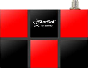 StarSat SR-5050HD Full HD with 1 year service, 2xUSB, HDMI, EPG, MPEG4, Blind Scan, YouTube, PVR, DVBS2, 4G & WiFi Supported (WiFi device not include)