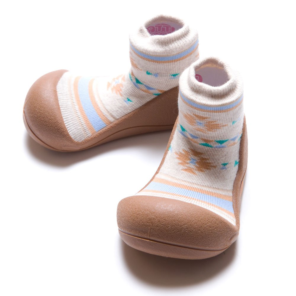 Attipas First Walking Shoes With Socks For Baby Boys Nordic Brown Girls Small