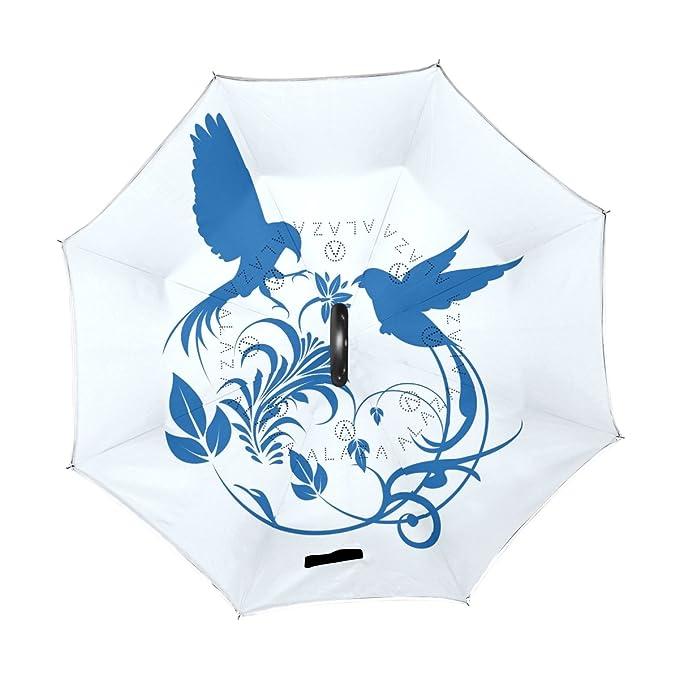 e35e3eb4932b Amazon.com: imobaby Outer Black Umbrella Blue And White Porcelain UV ...