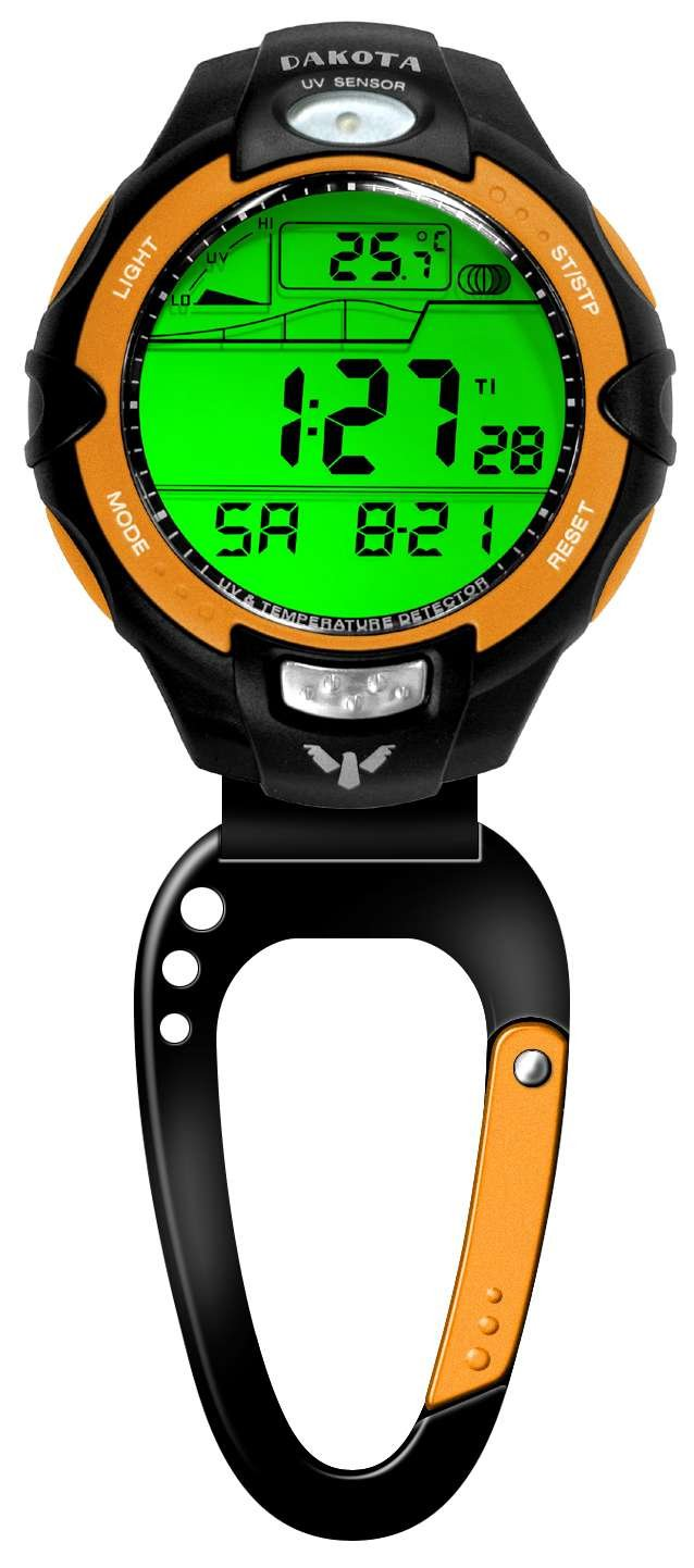 Dakota UV Temp and Tide Sensor Clip Watch