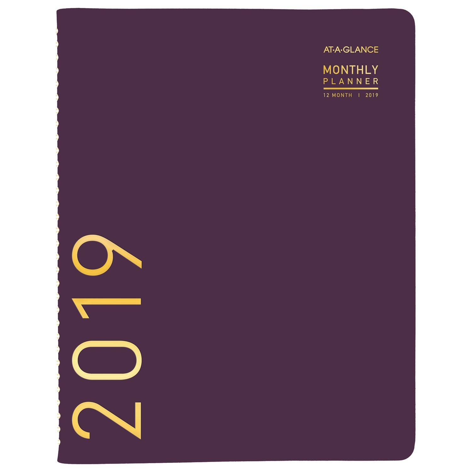 AT-A-GLANCE 2019 Monthly Planner, 9'' x 11'', Large, Contemporary, Purple (70250X59)
