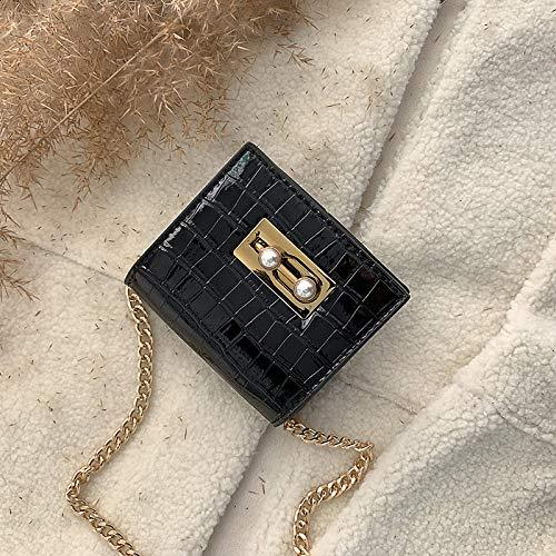 Sacs Messenger Sac Chaîne Xmy Sauvage Fashion Petit Noir Mini Main À Épaule H6wCqEw