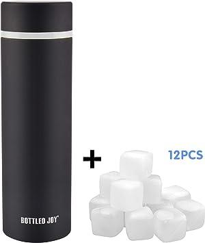 Amazon.com: Botella de agua de acero inoxidable, con ...