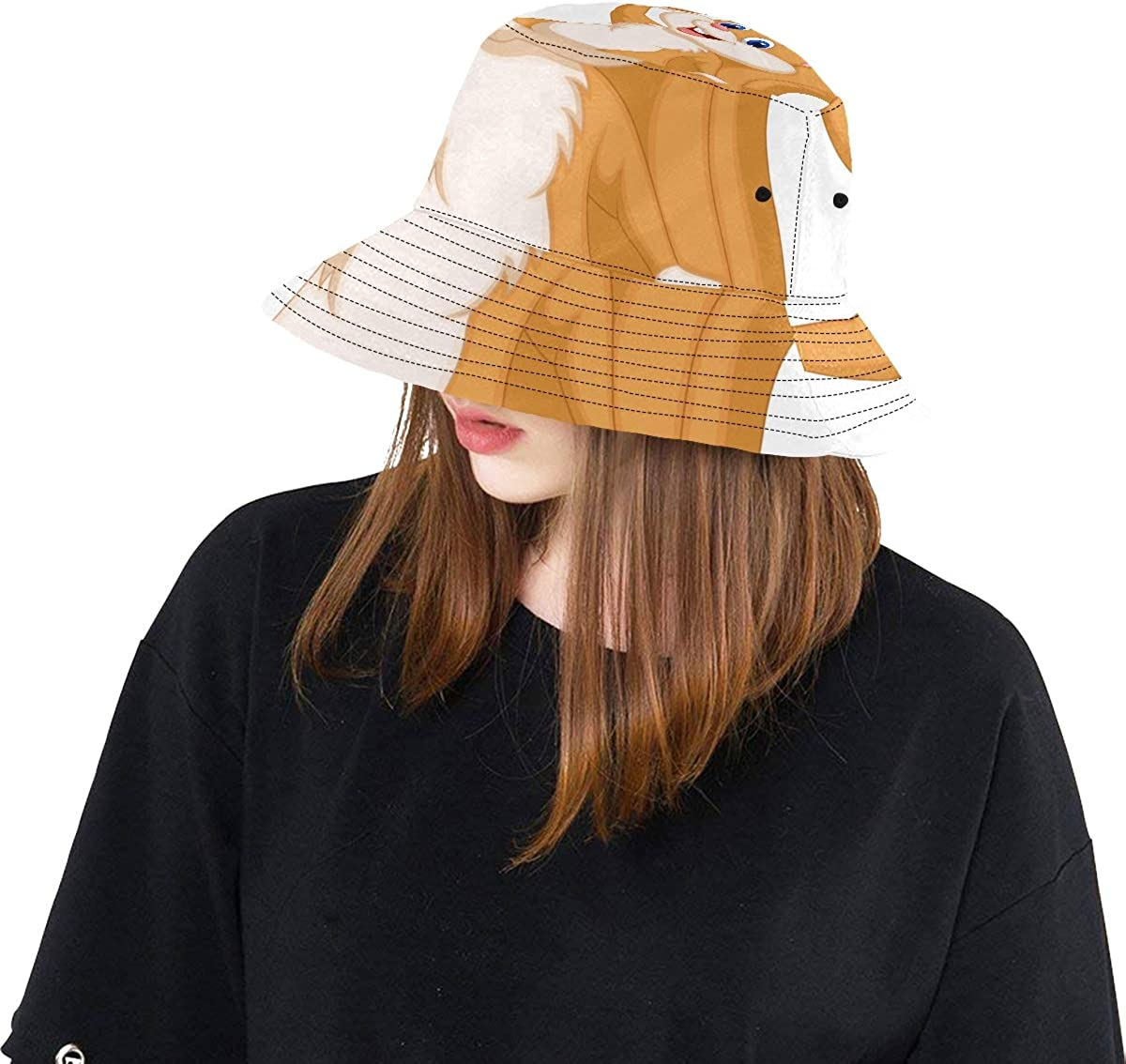 GESDY Wide Brim Beach Fishing Hat Outdoor Breathable Foldable Sun Protection Bucket Hats Cap