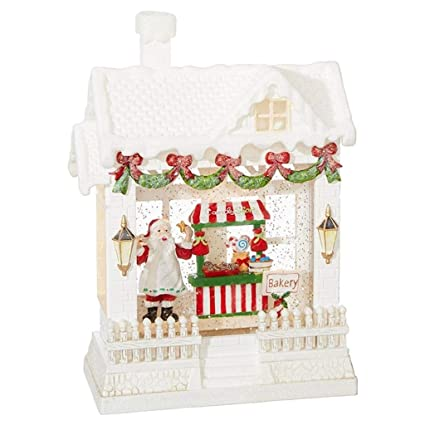 67f7ac0e789e9 Image Unavailable. Image not available for. Color  Baking Santa Claus  Battery Operated Lighted Water House ...