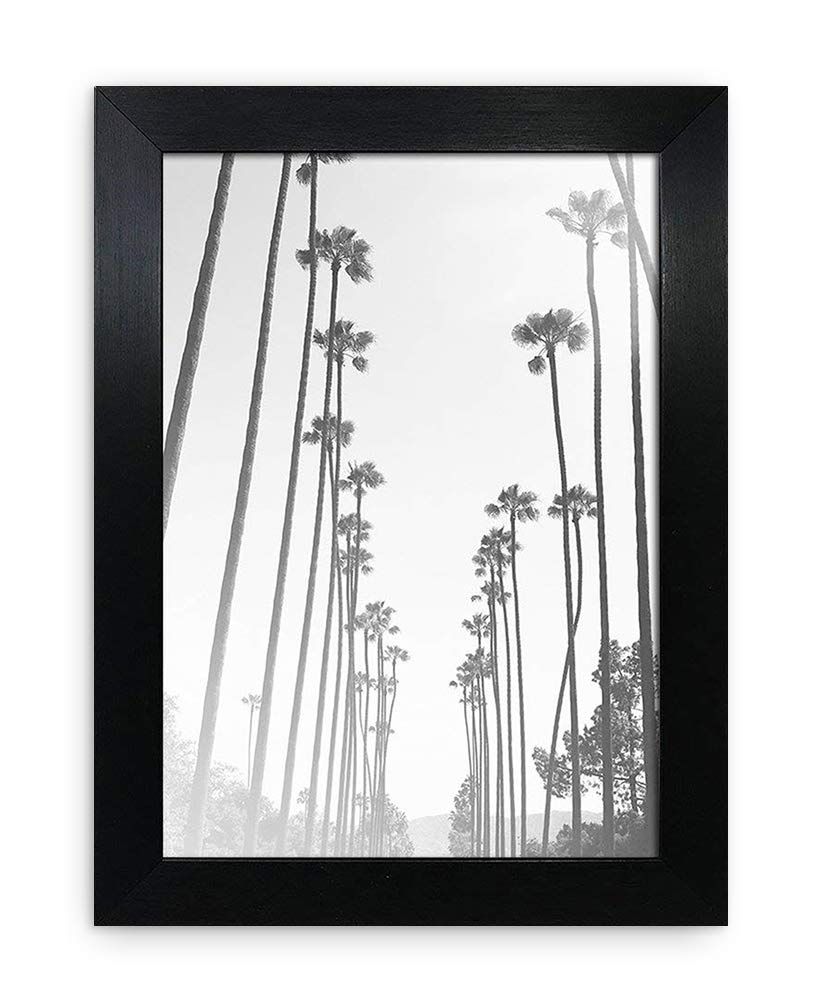 A5 / 14.8x21cm Oxford Black Photo Frame - GLASS Window - Thin Picture Print Certificate Frame - Portrait & Landscape/Width Of Frame 2cm Photoframesandart