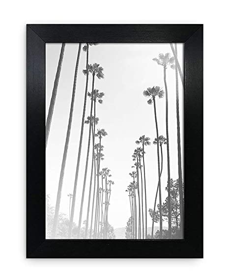faca3b2a713 A5   14.8x21cm Oxford Black Photo Frame - GLASS Window - Thin Picture Print Certificate  Frame - Portrait   Landscape Width Of Frame 2cm  Amazon.co.uk  ...