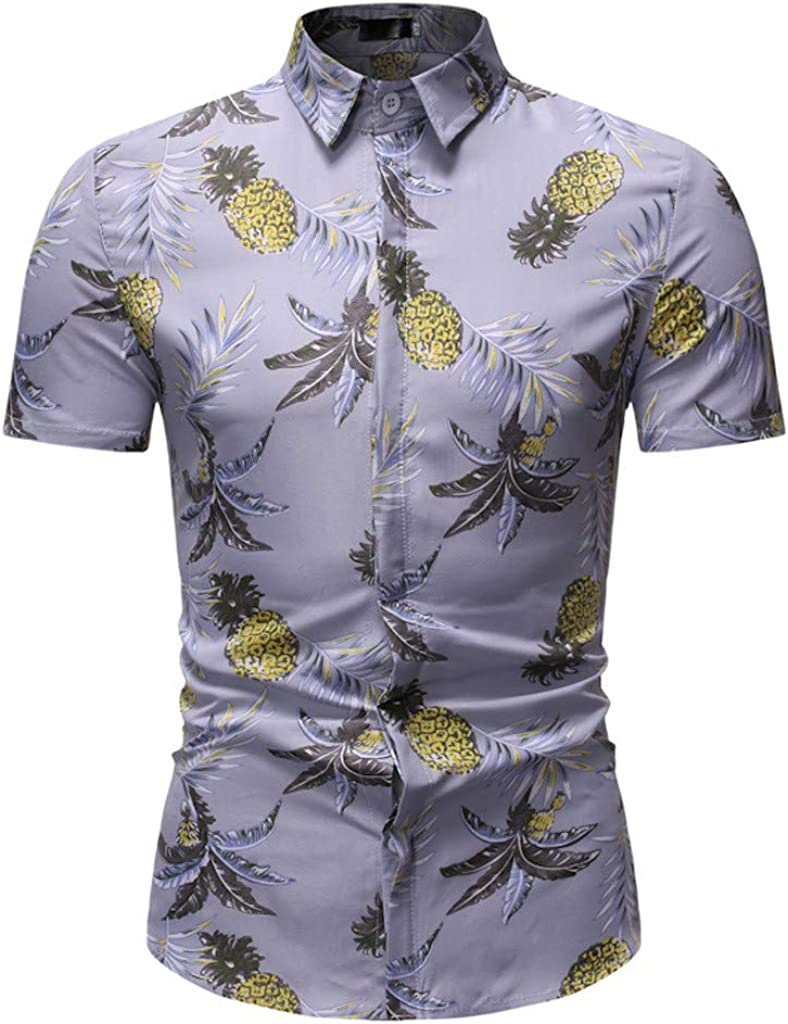 Camiseta Hombres Verano Original Básica de Manga Corta Camisetas Hombre Ropa Gym Hombre Original King Funky Camisa Hawaiana Bolsillo Delantero Impresión de Hawaii: Amazon.es: Ropa y accesorios