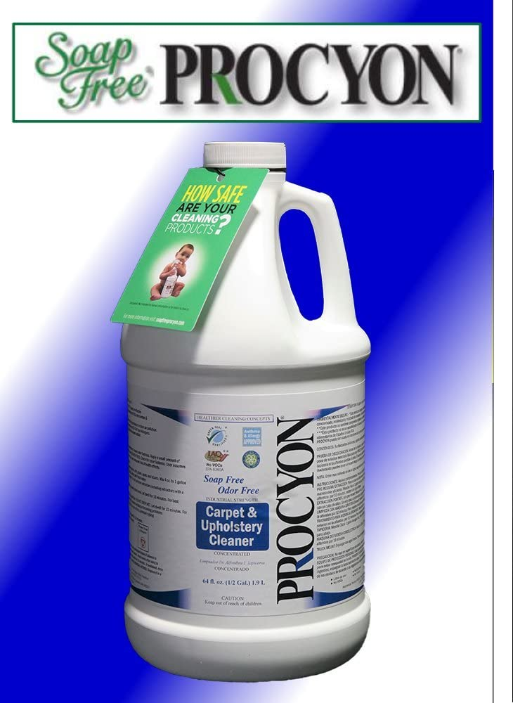 1 Each- 64 oz. Bottle - Soap Free PROCYON Carpet & Upholstery Carpet Cleaner Concentrate
