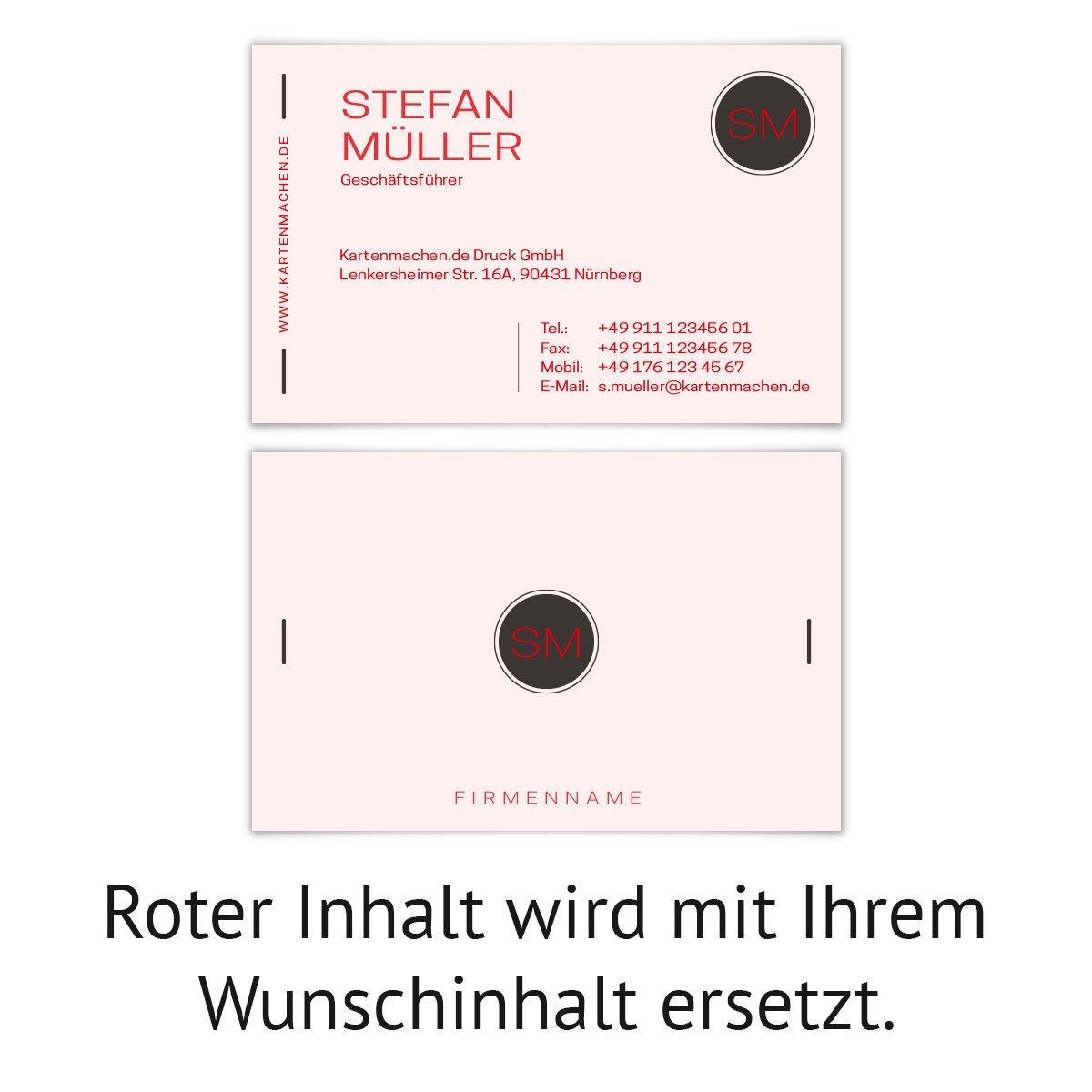500 x Visitenkarten individuell Business Karten 300g qm 85 x x x 55 mm - Modern Minimal B07F7C7PHQ Postkarten Günstiger 2416cc