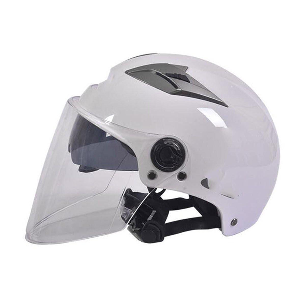 TZQ Double Lens Half-coveROT Damen Half Helm Männer Mode Wrestling Hut Motorrad Batterie Auto Helm
