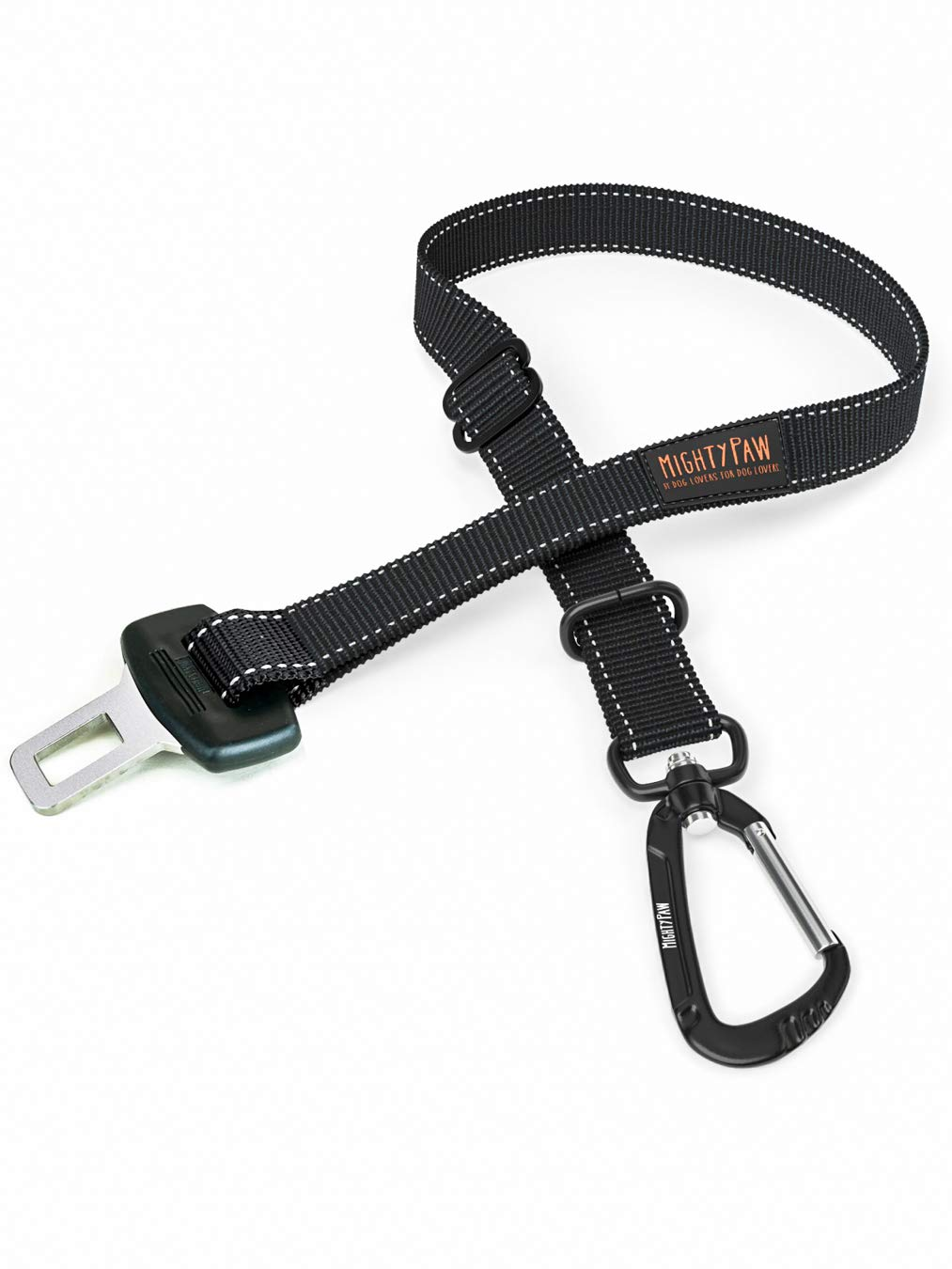 Mighty Paw Dog Seat Belt | Pet Safety Belt, Created with Human Seatbelt Material. All-Metal Hardware with Adjustable Length Strap. Exceeds Dog Safety Standards. Keep Your Dog Secure in The Car by Mighty Paw