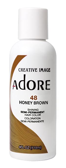 Amazon Com Adore Semi Permanent Haircolor 048 Honey Brown 4 Ounce