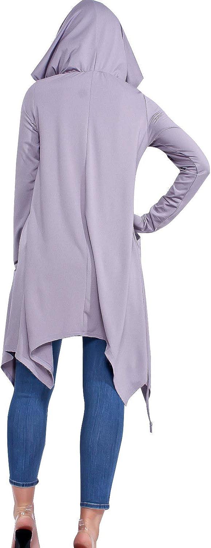 Dorimis Femme Sweats /à Capuche Poche Tops /à Manches Longues Casual Automne Hiver Pull Elegant Streetwear Tunique