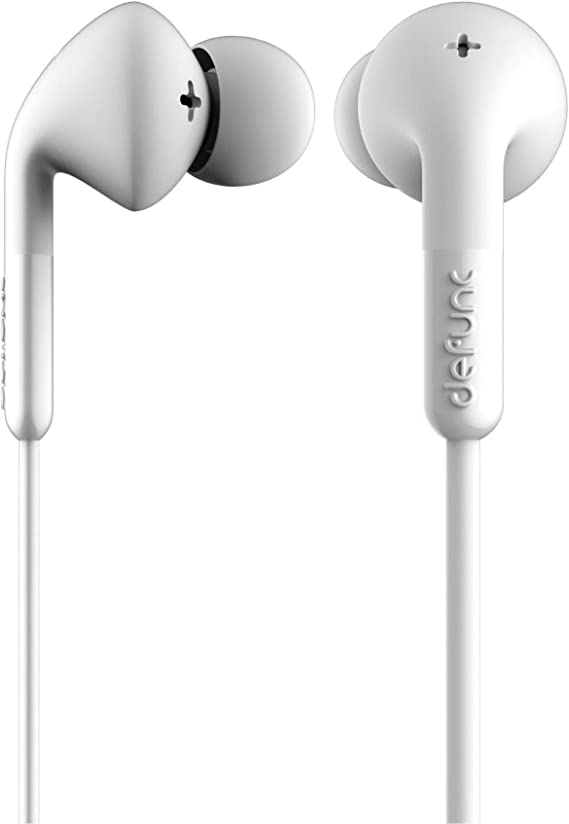 Amazon Com Defunc Plus Music Earbuds For Music Listening Compatible With Iphone 6s Plus 6 Plus 6s 6 5s 5c 5 4s 4 Se Samsung And Android With Mic And Remote White
