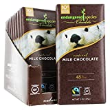 Endangered Species Sea Otter, Natural Milk Chocolate (48%), 3-Ounce Bars (Pack of 12)