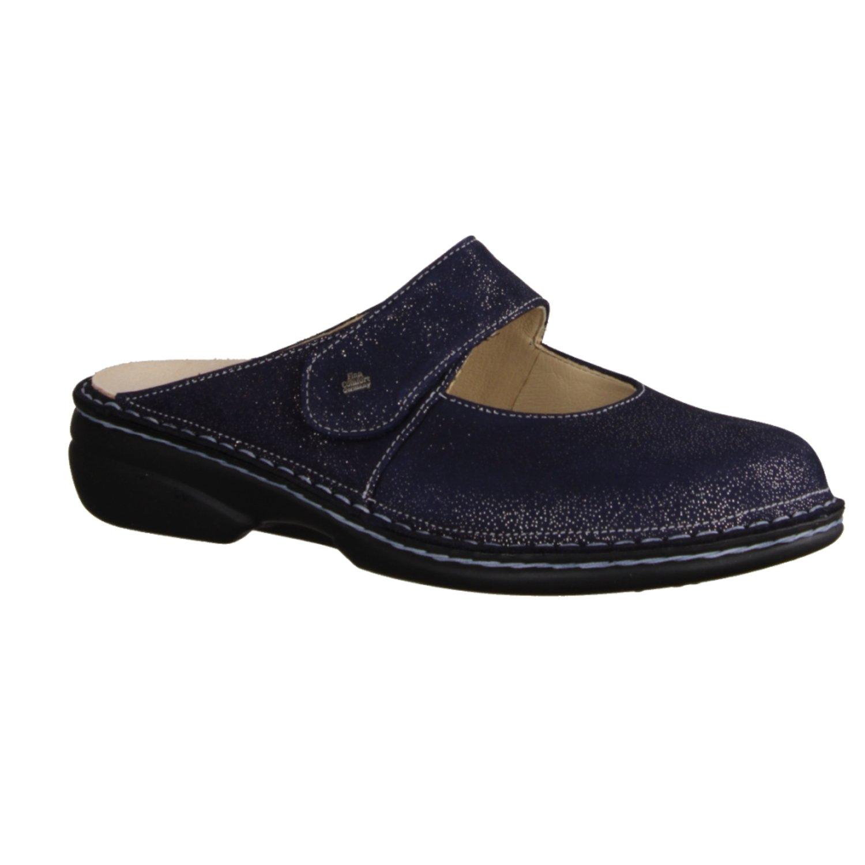 Finn Comfort 2552597414 - Zuecos de Piel Para Mujer 39 EU Azul