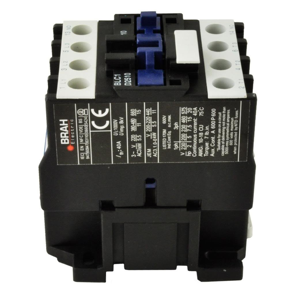 Direct Replacement for TELEMECANIQUE LC1-D25 AC Contactor LC1D25 LC1D2510-G6 120V Coil 3 Phase 3 Pole 25 Amp