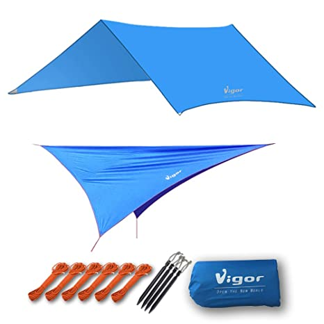 Vigor Waterproof Rainfly Large Tent Tarp for C&ing and Snow Protection with Reflective Rope and Windproof  sc 1 st  Amazon.com & Amazon.com : Vigor Waterproof Rainfly Large Tent Tarp for Camping ...