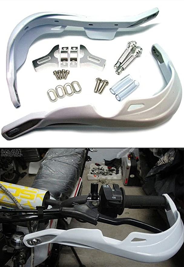 ICT Valvetronix Pair White Universal Motorcycle//ATV Hand Protectors Hand Guard Protector Hand Guard 22 mm 7//8 do not fit beta