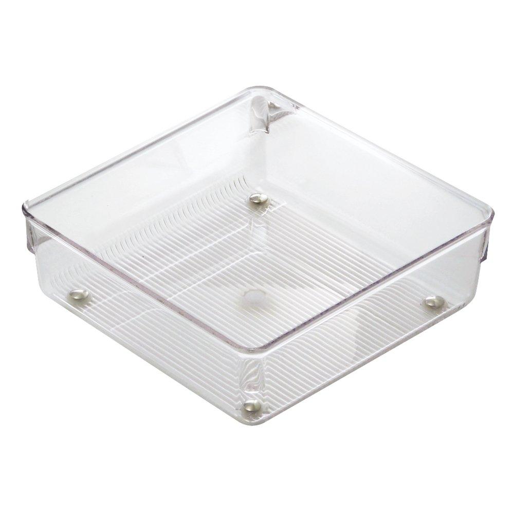 InterDesign Linus Organizador de cajones, cubertero para cajones de cocina mediano en plástico para guardar